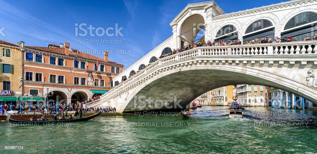 Rialto bridge in Venice, Italy stock photo