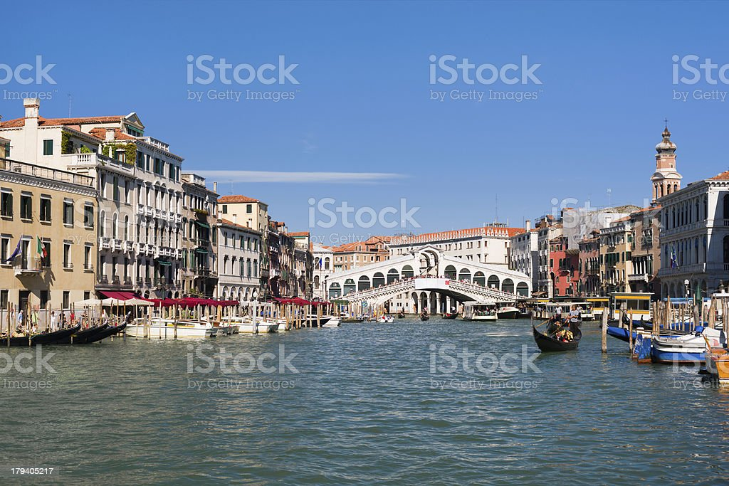 Rialto Bridge in Venice royalty-free stock photo