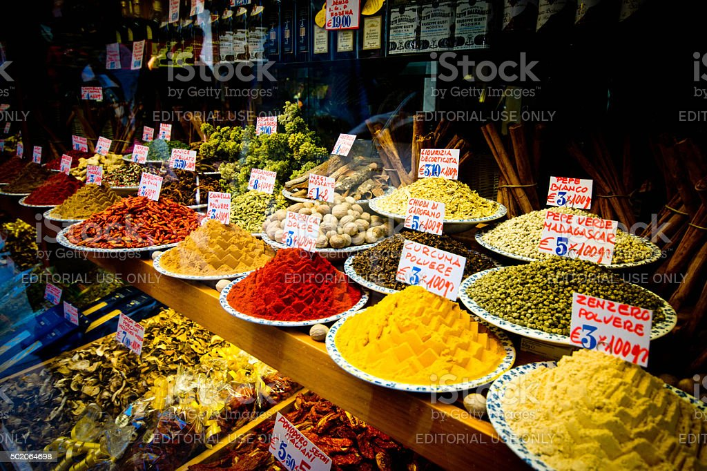 Rialto Bridge Market stock photo
