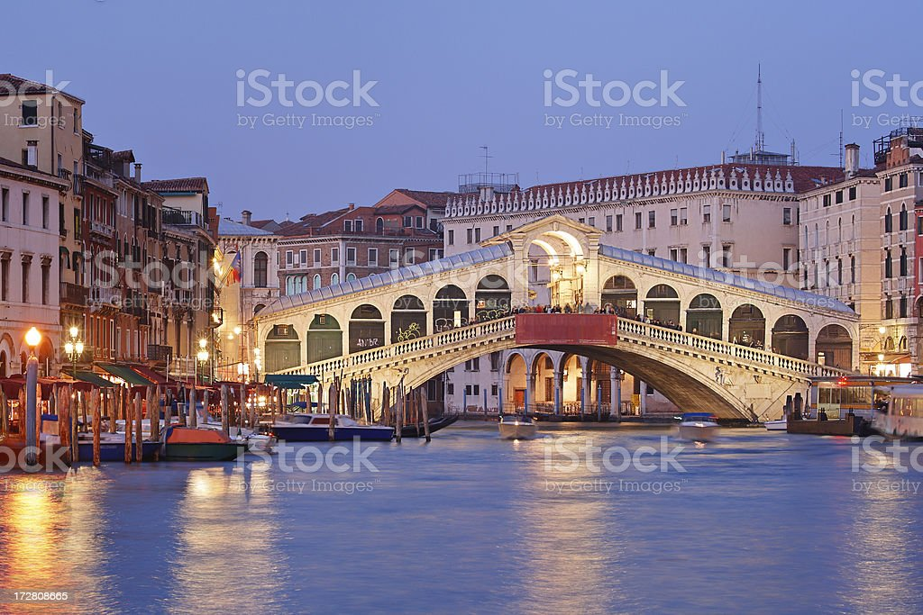 Rialto Bridge stock photo