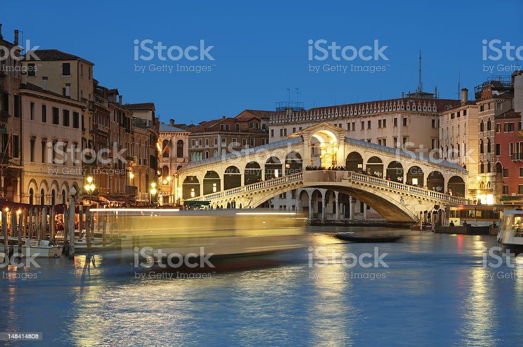 Rialto Bridge, Venice - Italy royalty-free stock photo