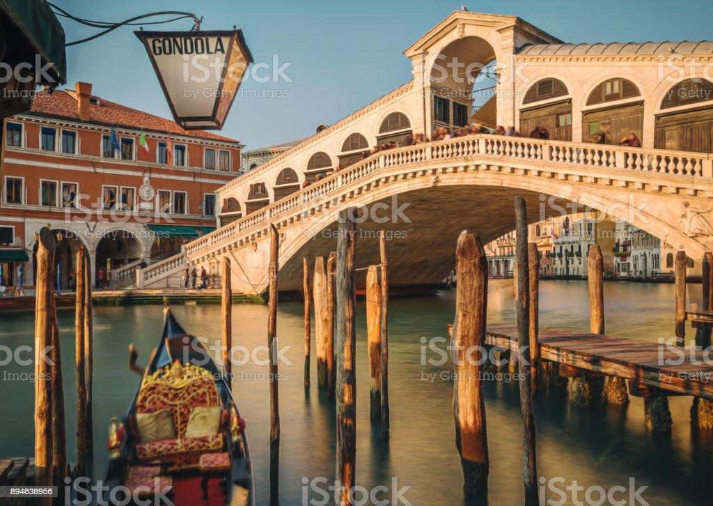 Rialto Bridge, Venice, Italy stock photo