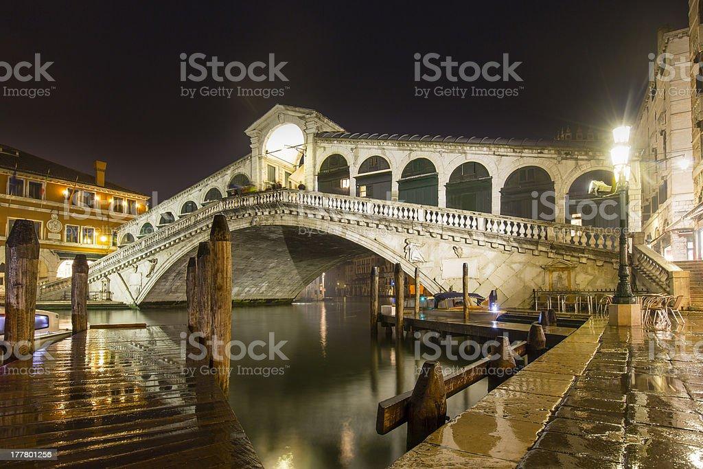 Rialto Bridge Venice royalty-free stock photo