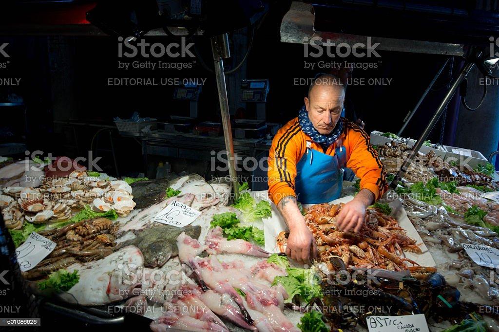 Rialto fish market stock photo