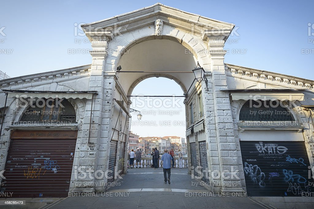 Rialto perspective royalty-free stock photo
