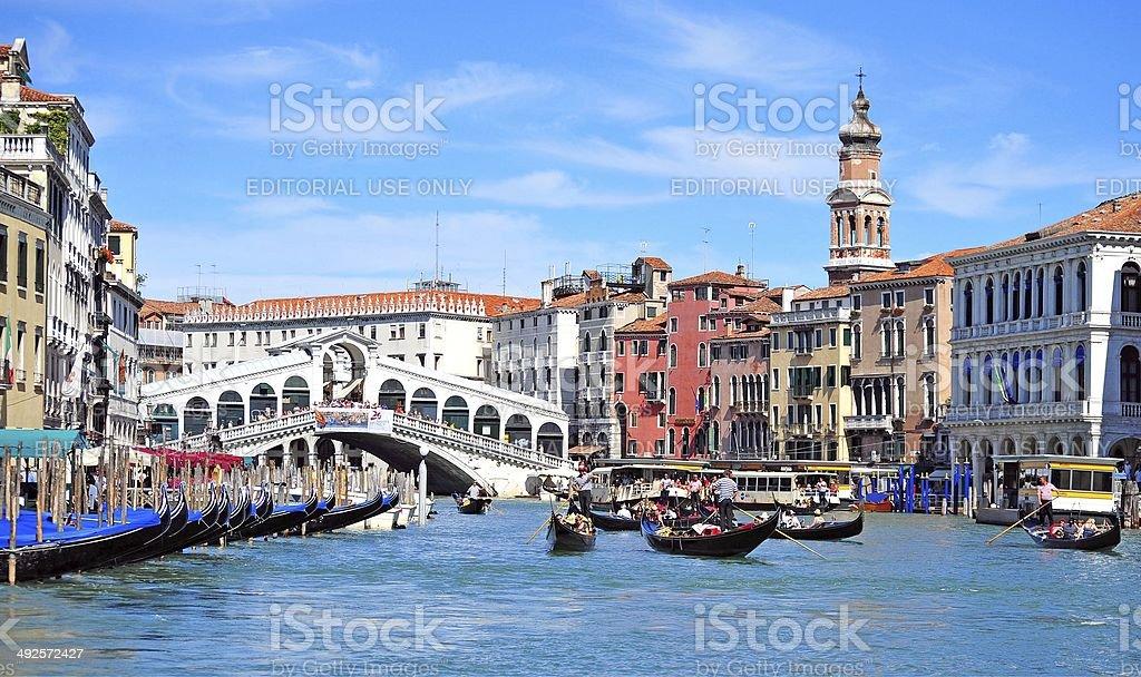 Rialto riot, Venice, italy stock photo