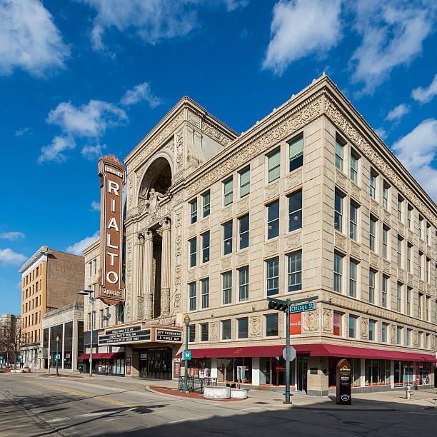 Rialto Square Theater stock photo