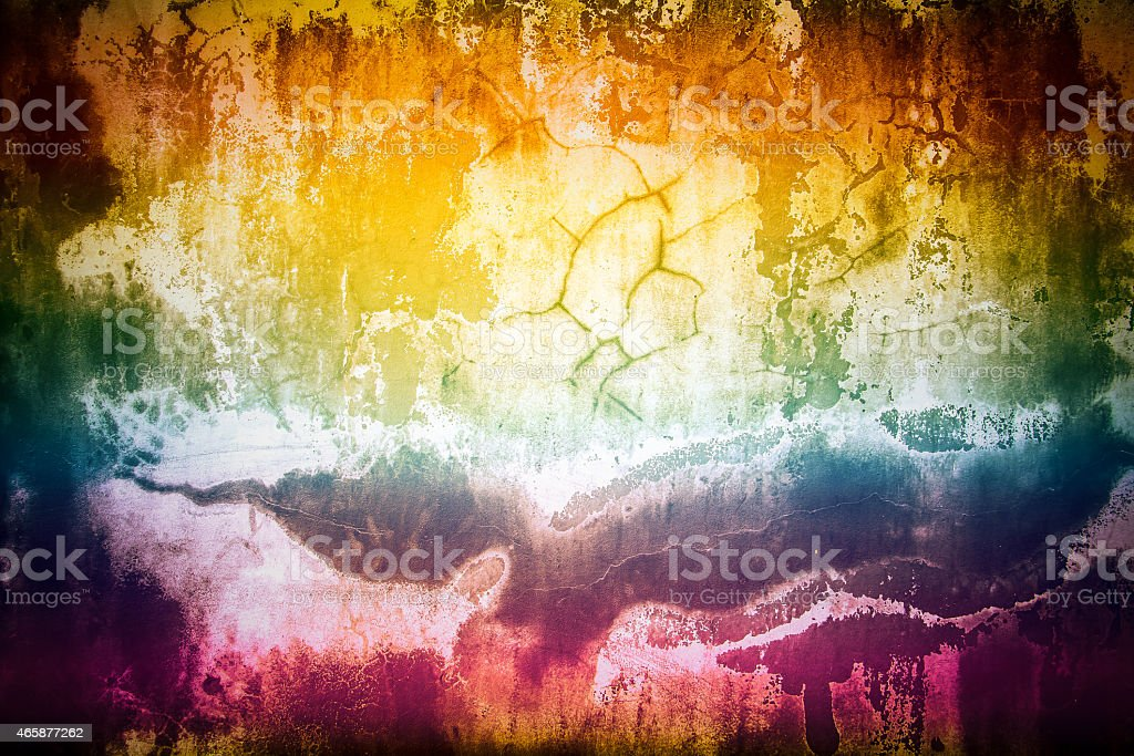 Rianbow cement wall grunge texture stock photo