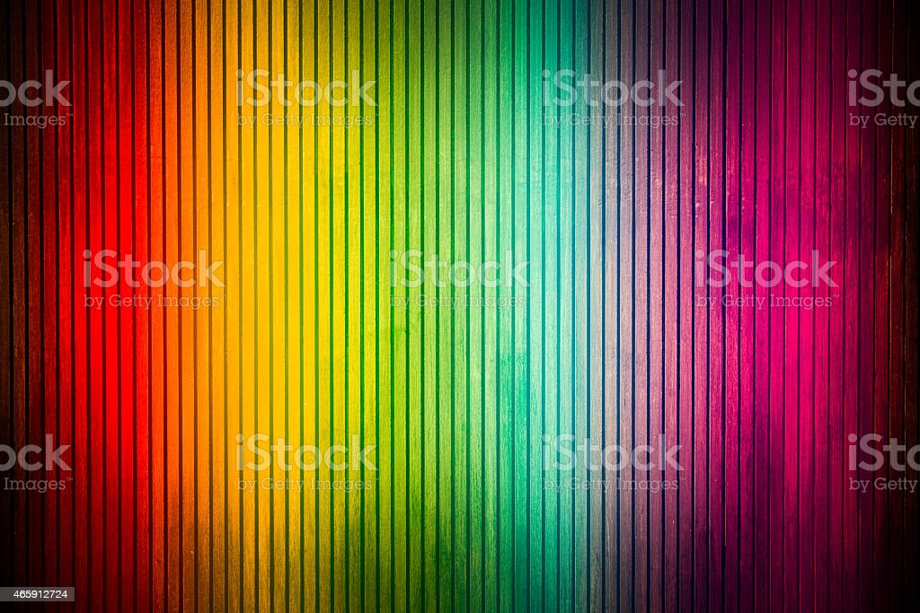 Rianbow Wooden layout stock photo