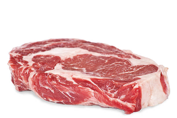 rib eye steak - ribeye biefstuk stockfoto's en -beelden