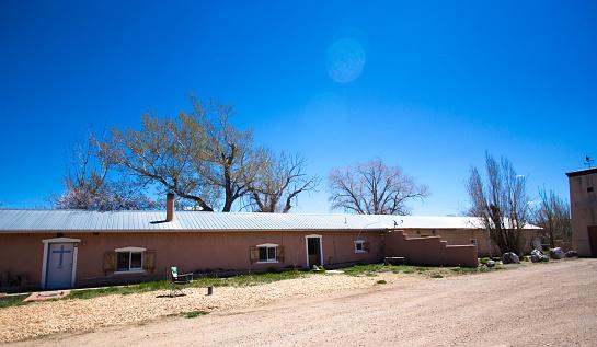 Costilla, NM: The old Plaza de Arriba in Costilla, NM, an adobe village in northern New Mexico in Taos County, near the Colorado border.