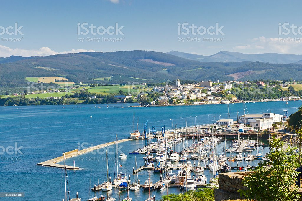 Ribadeo and Vegadeo royalty-free stock photo