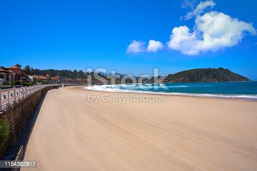 Ribadesella Santa Marina beach in Asturias of Spain