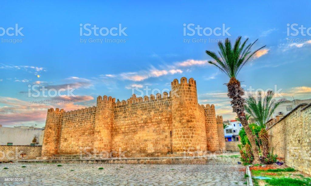 Ribat, a medieval citadel in Sousse, Tunisia. UNESCO heritage site stock photo
