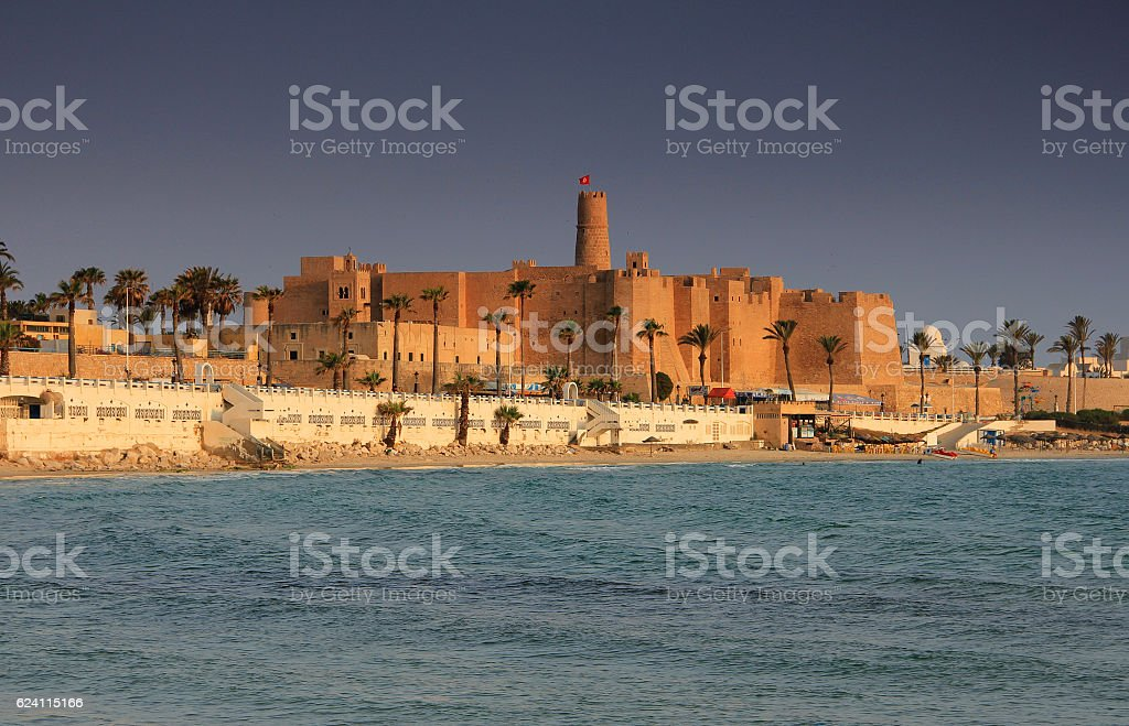Ribat in Monastir, Tunisia. stock photo