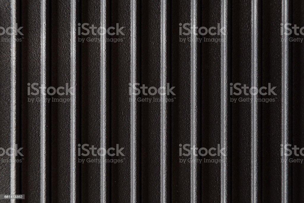 geribde gietijzer oppervlak foto