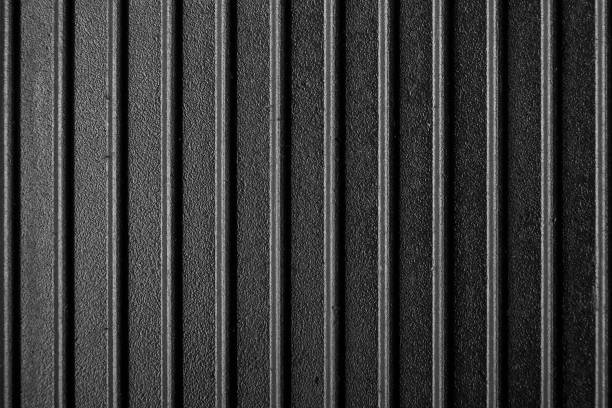 ribbed surface of the grill pan. cast iron texture is clearly visible. stock photo