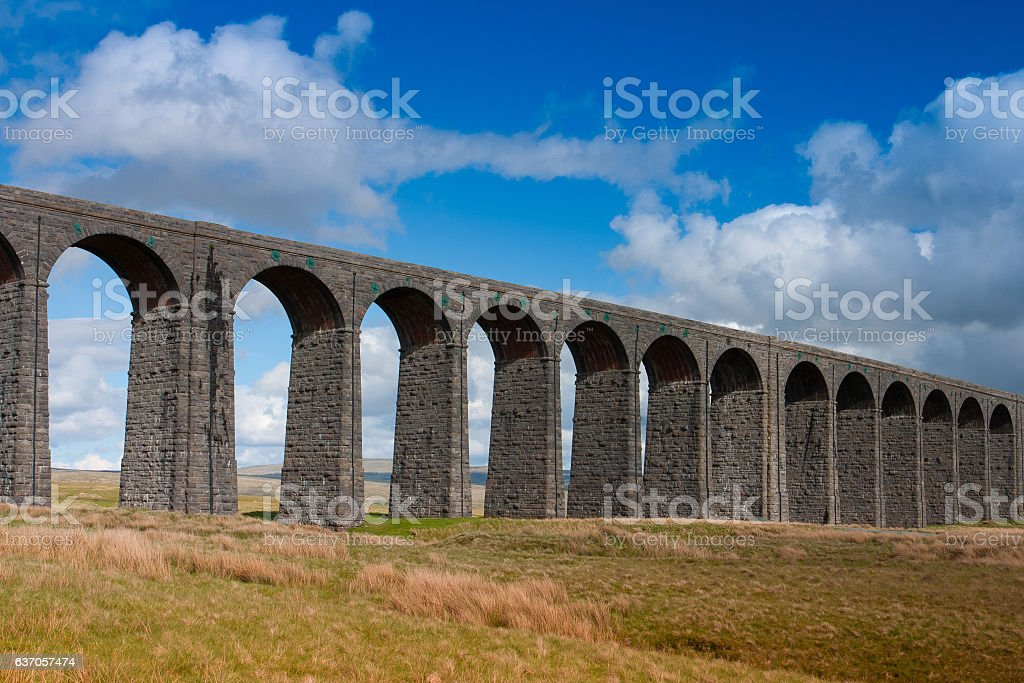 Ribblehead Viaduct in the Yorkshire Dales,England stock photo