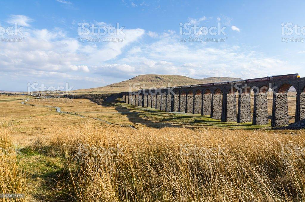 Ribblehead Viaduct Yorkshire stock photo