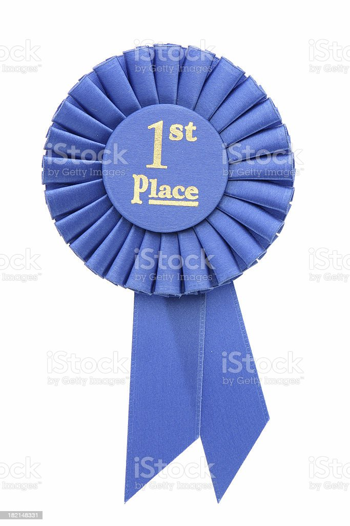 Ribbon - 1st Place royalty-free stock photo