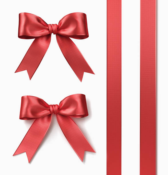 band und bogen - geschenkschleife stock-fotos und bilder