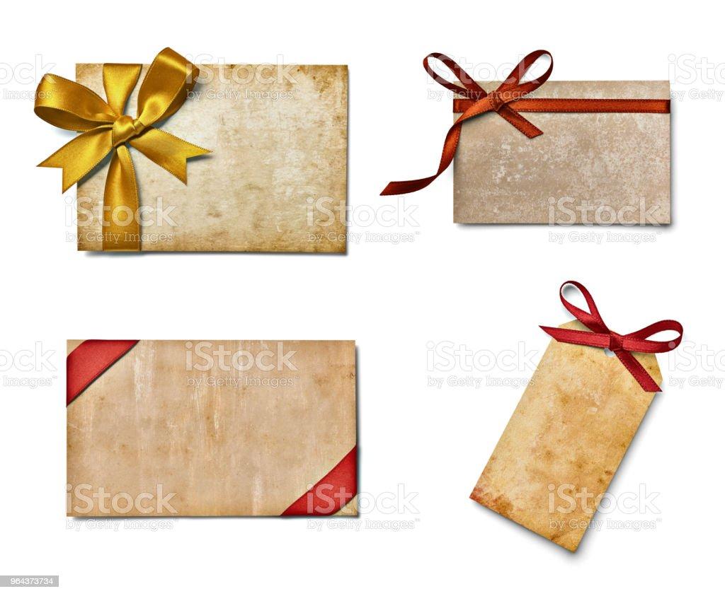 Arco de fita de celebração nota chirstmas Cartão de saudação - Foto de stock de Amor royalty-free