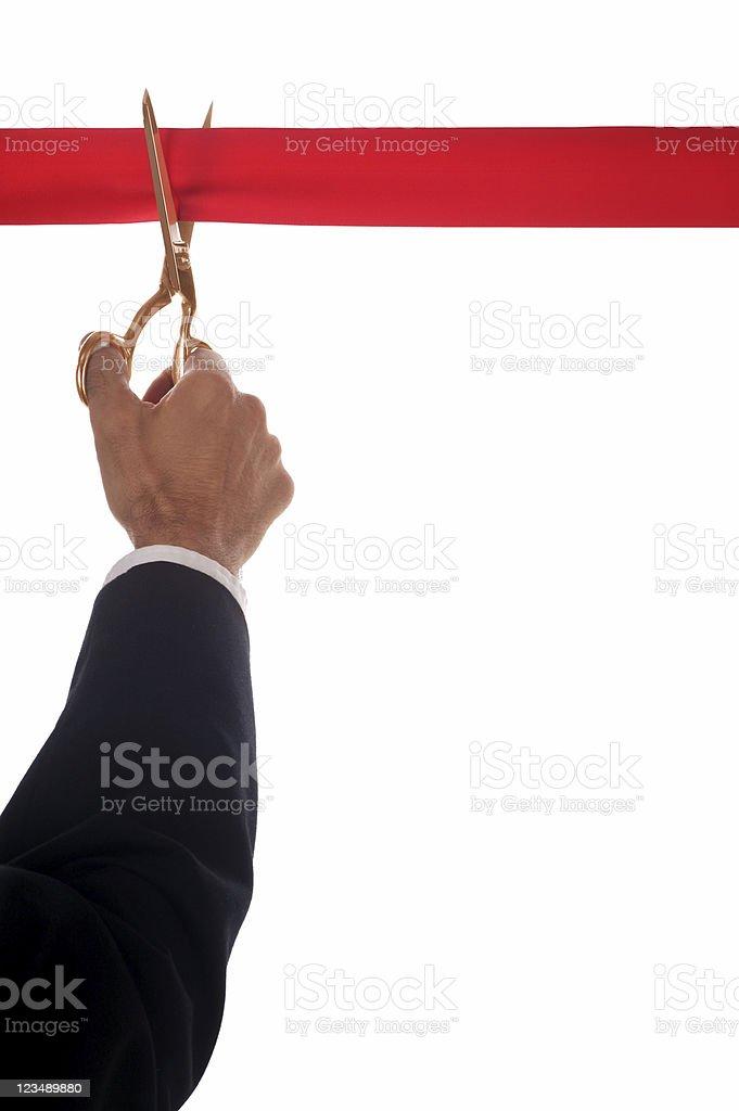 ribbon cutting ceremony stock photo