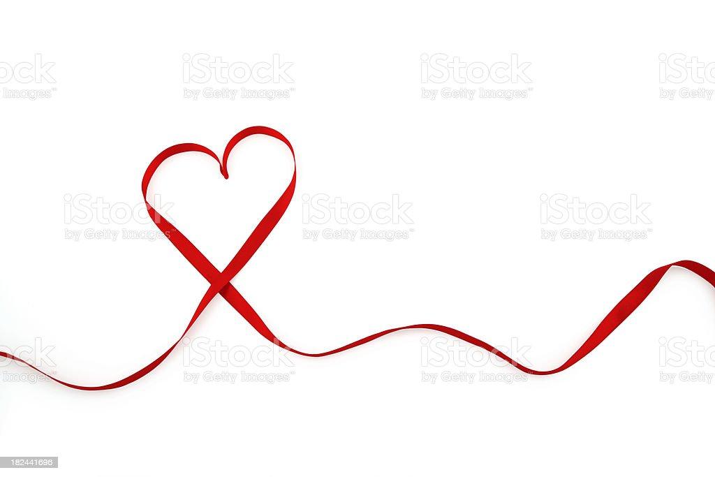 Ribbon in Heart Shape royalty-free stock photo