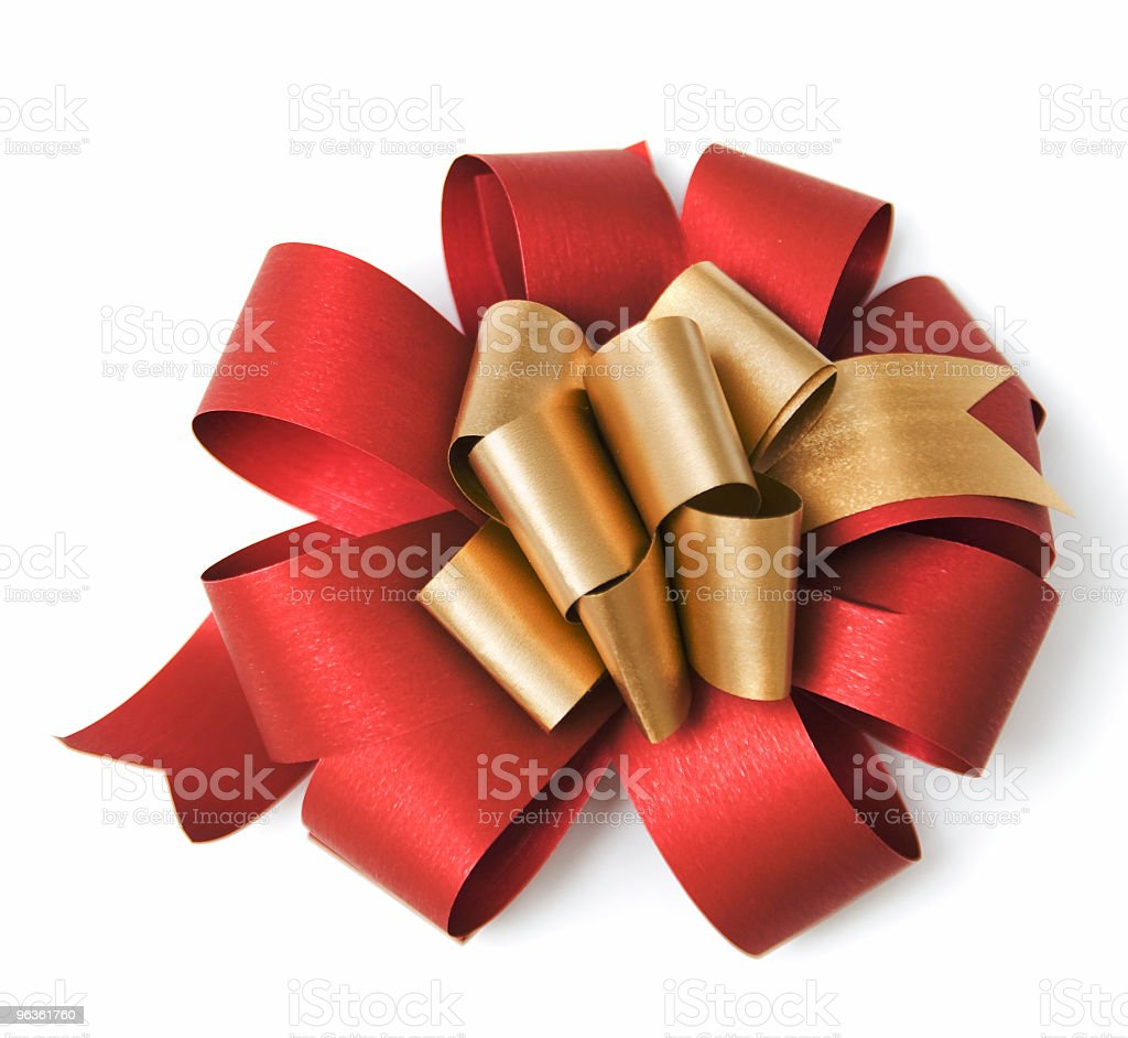 Ribbon in vibrant tones of red and gold royalty-free stock photo