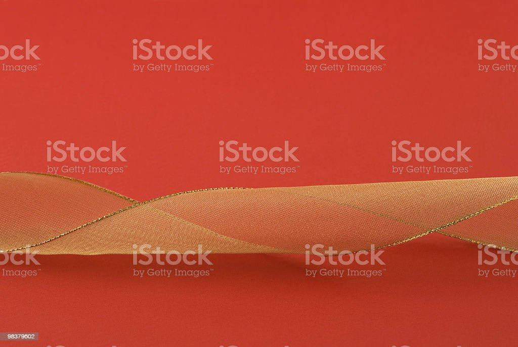 Ribbon on red background royalty-free stock photo