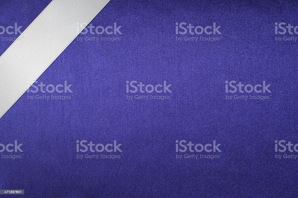 Ribbon on Silk Texture Background stock photo