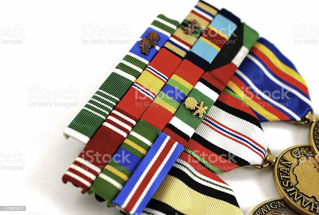 Ribbons of a War Hero royalty-free stock photo