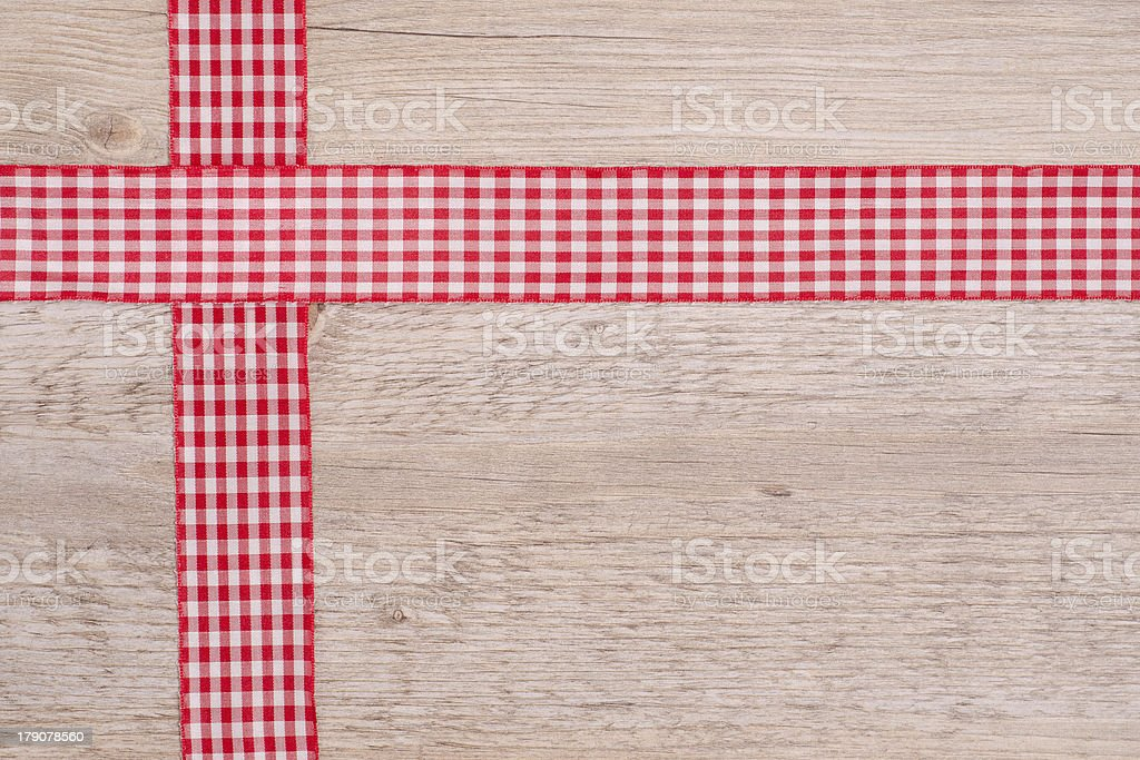 Ribbons of cloth red and white checkered royalty-free stock photo