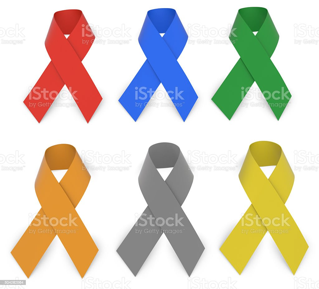 Ribbons stock photo