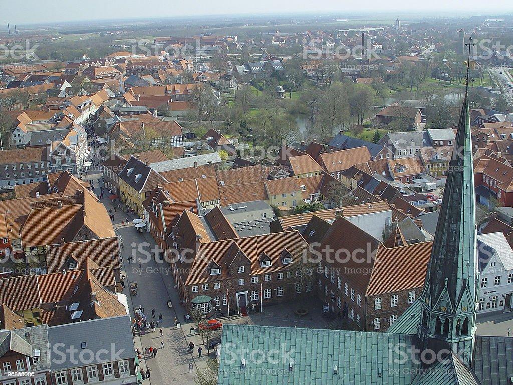 Verwaltungsbezirk Ribe, von oben Lizenzfreies stock-foto