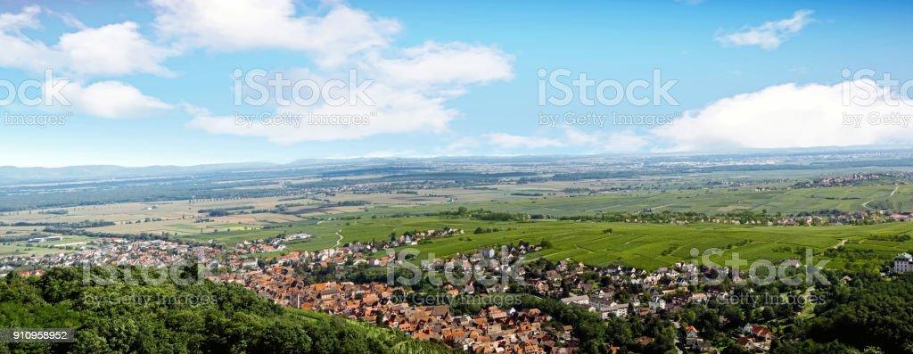 Ribeauvillé. Vue depuis le château, Haut Rhin, Alsace. Grand Est stock photo