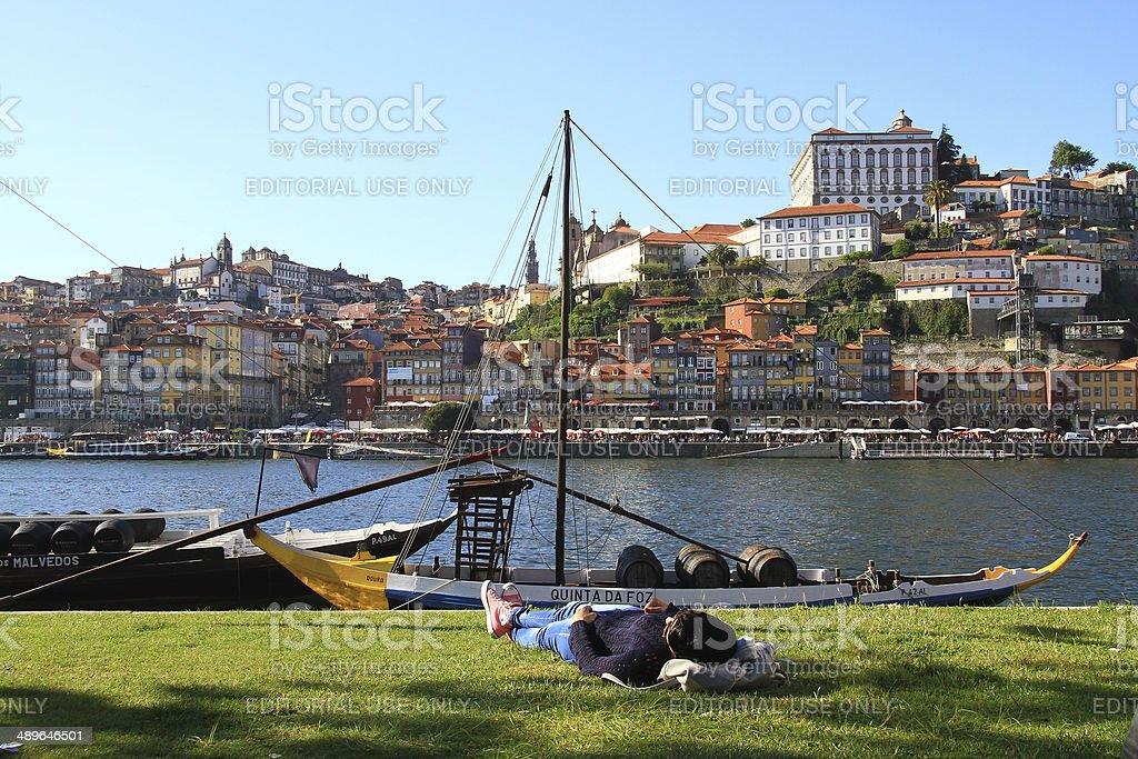 Ribeira do Porto, Portugal stock photo