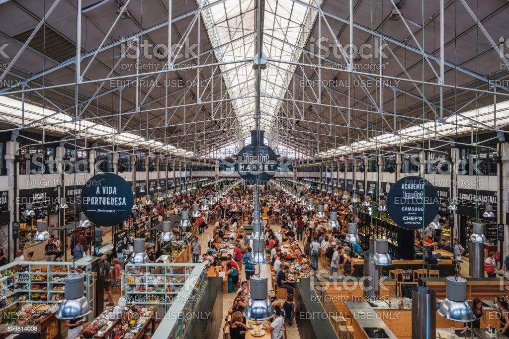 Mercado da Ribeira (Time Out Market) Lisbon stock photo