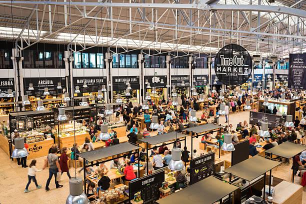 Ribeira Market stock photo