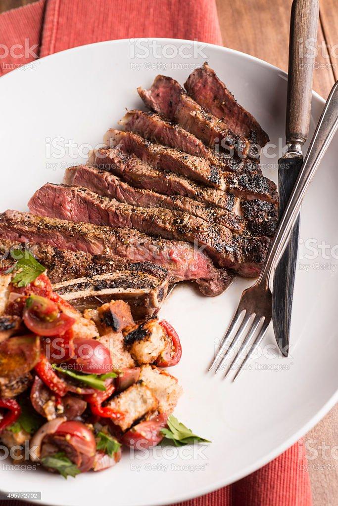 Ribeye Steak stock photo