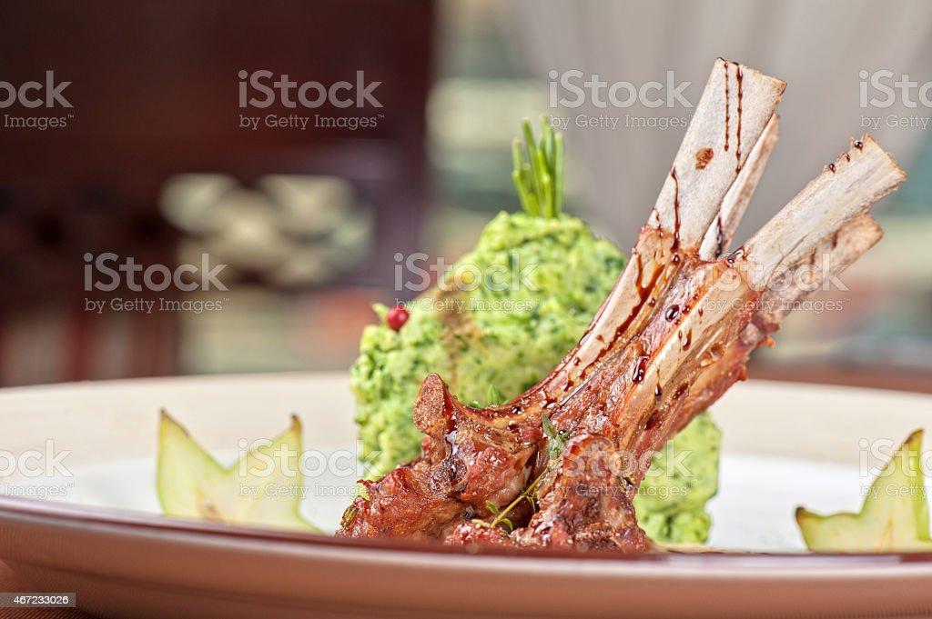 ribs calf stock photo