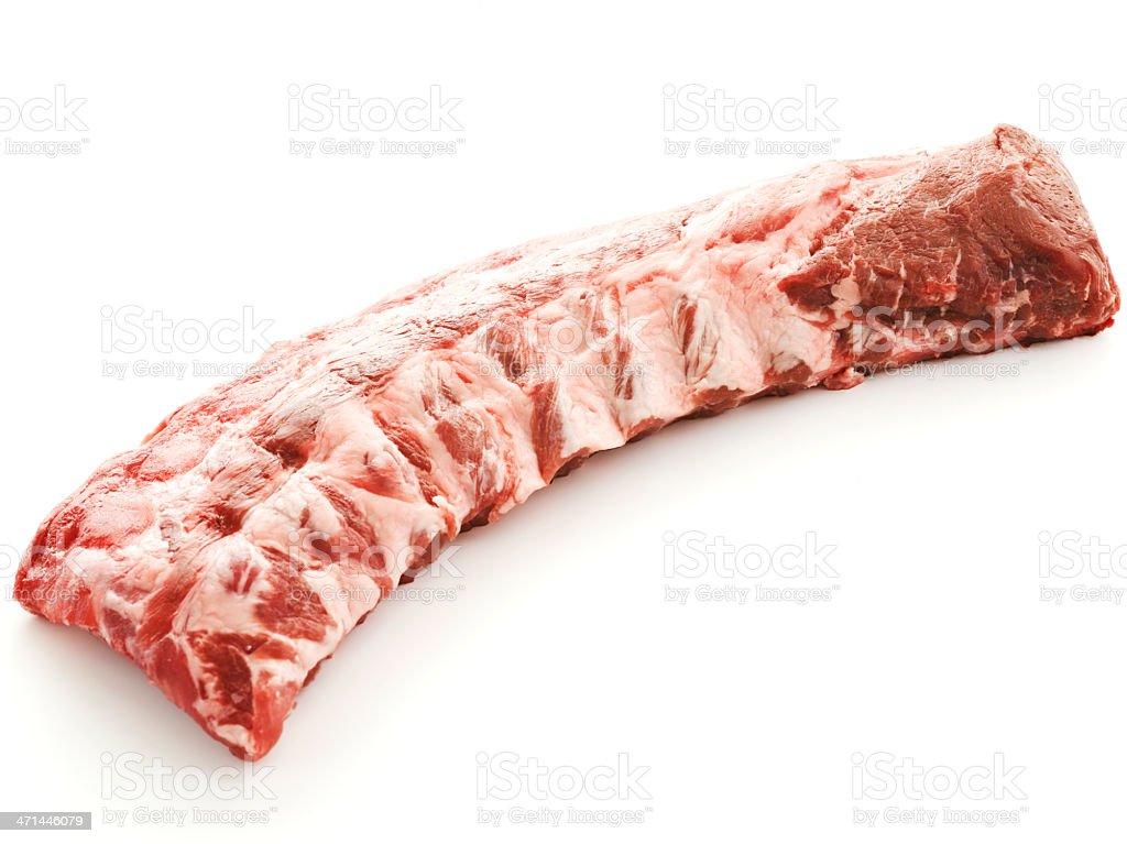 ribs... in the buff stock photo