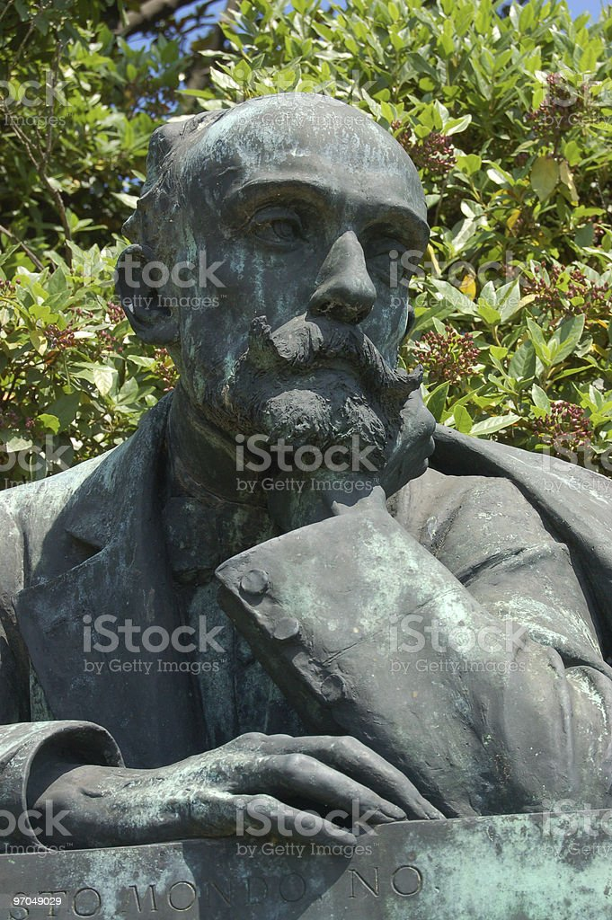 Riccardo Selvatico statue royalty-free stock photo