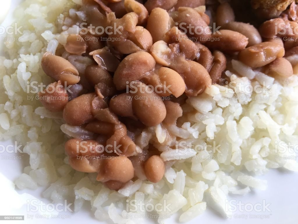 Rice and beans stock photo