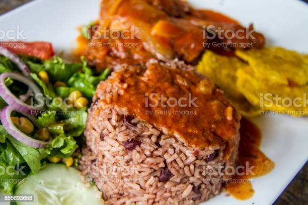 Rice and Beans with caribean chicken