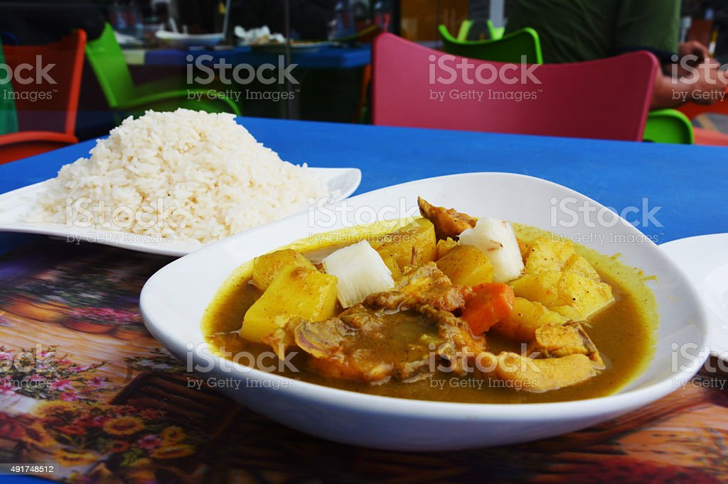 Rice and beef curry stock photo