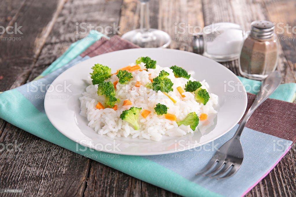 Arroz y verduras - foto de stock