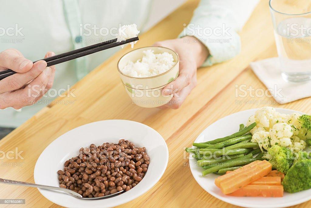 Arroz y verduras - Foto de stock de Adulto libre de derechos