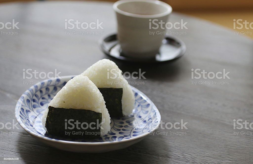 Rice balls stock photo