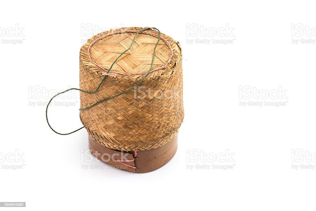 rice basket stock photo